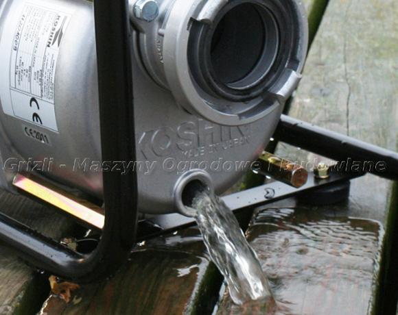 Pompa Koshin STH 80X – spuszczenie wody z korpusu pompy