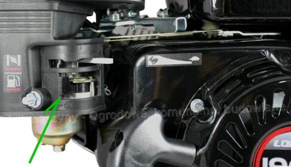 Loncin G200F - kranik paliwa w pozycji zamknięte