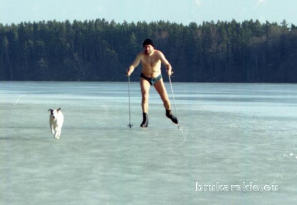 Jan Głuszczuk. Grizli. Jezioro Pluszne. Na łyżwy