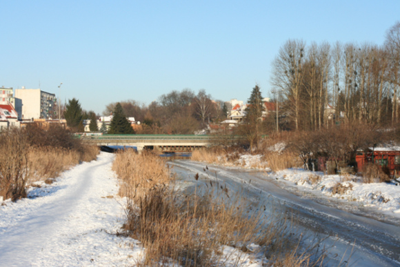 Przymiar brukarski Jazon  - wstęp - foto Łyny pod lodem