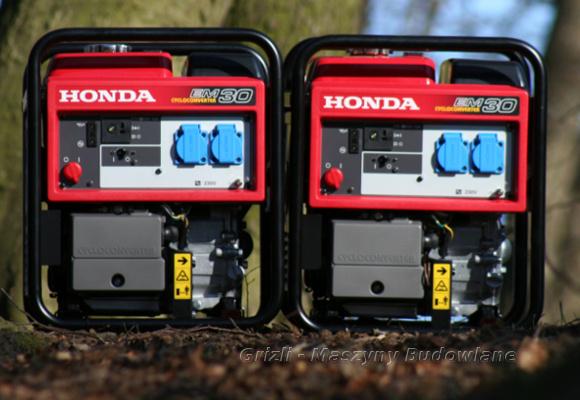 Honda - agregaty prądotwórcze EM 30, generują prąd bardzo dobrej jakości