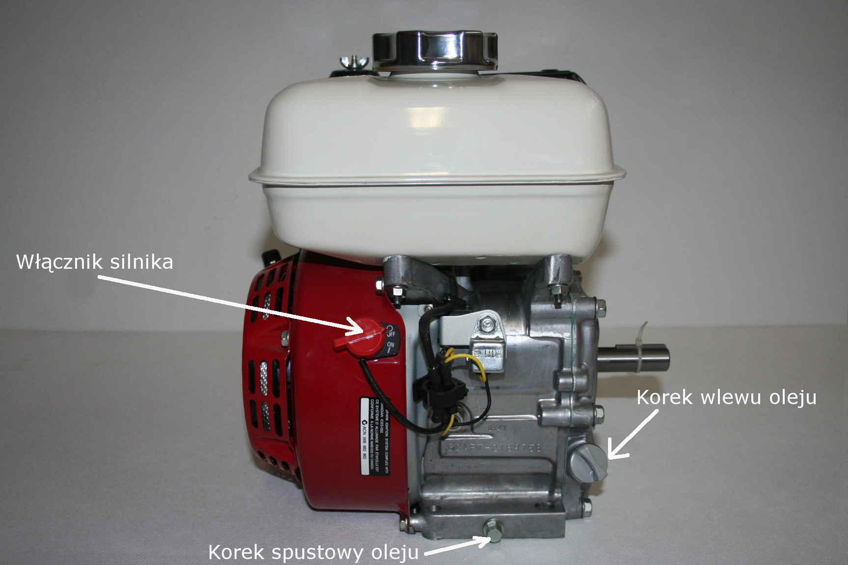 Silnik Honda GX -  zapłon