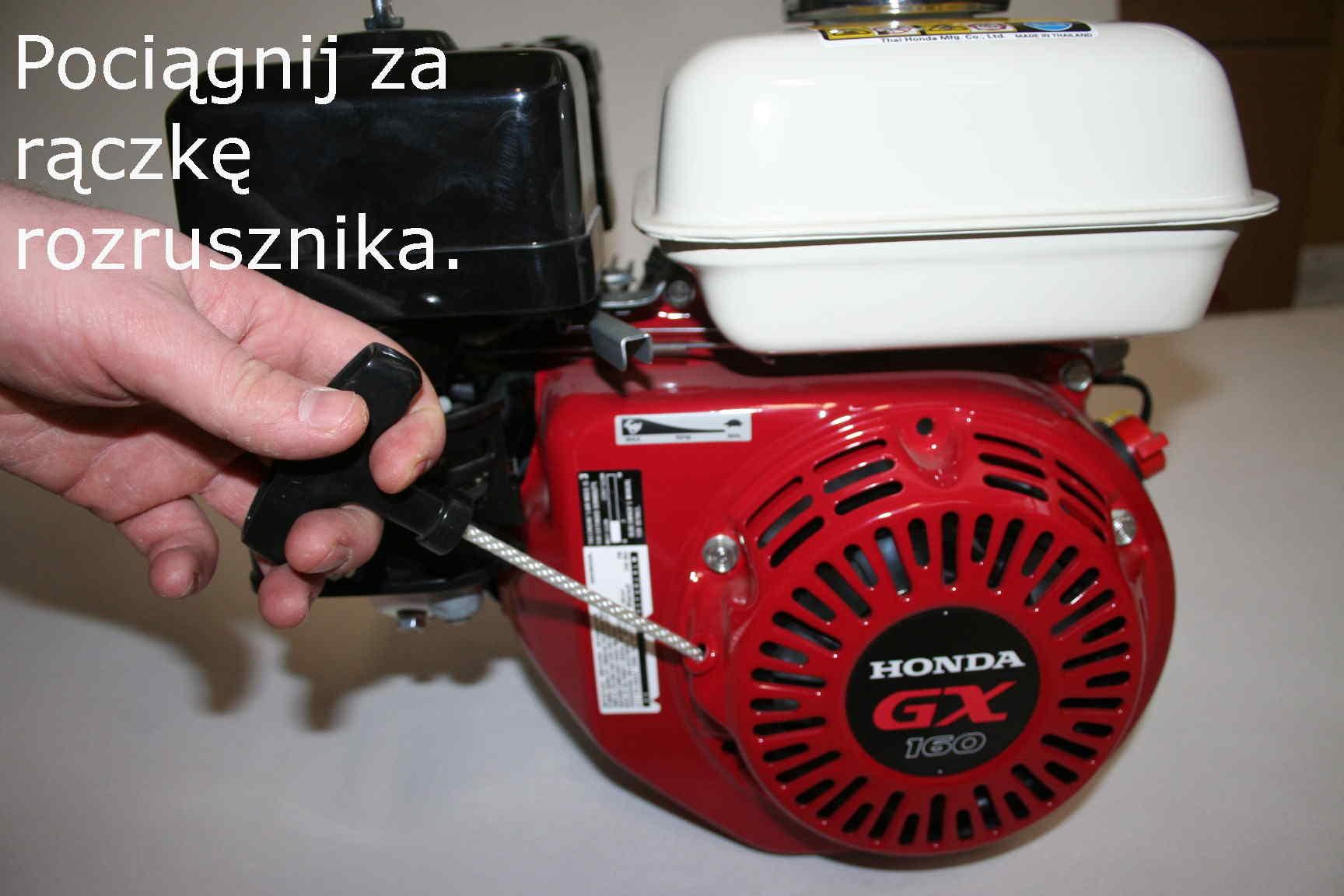 Silnik Honda GX - rozruch