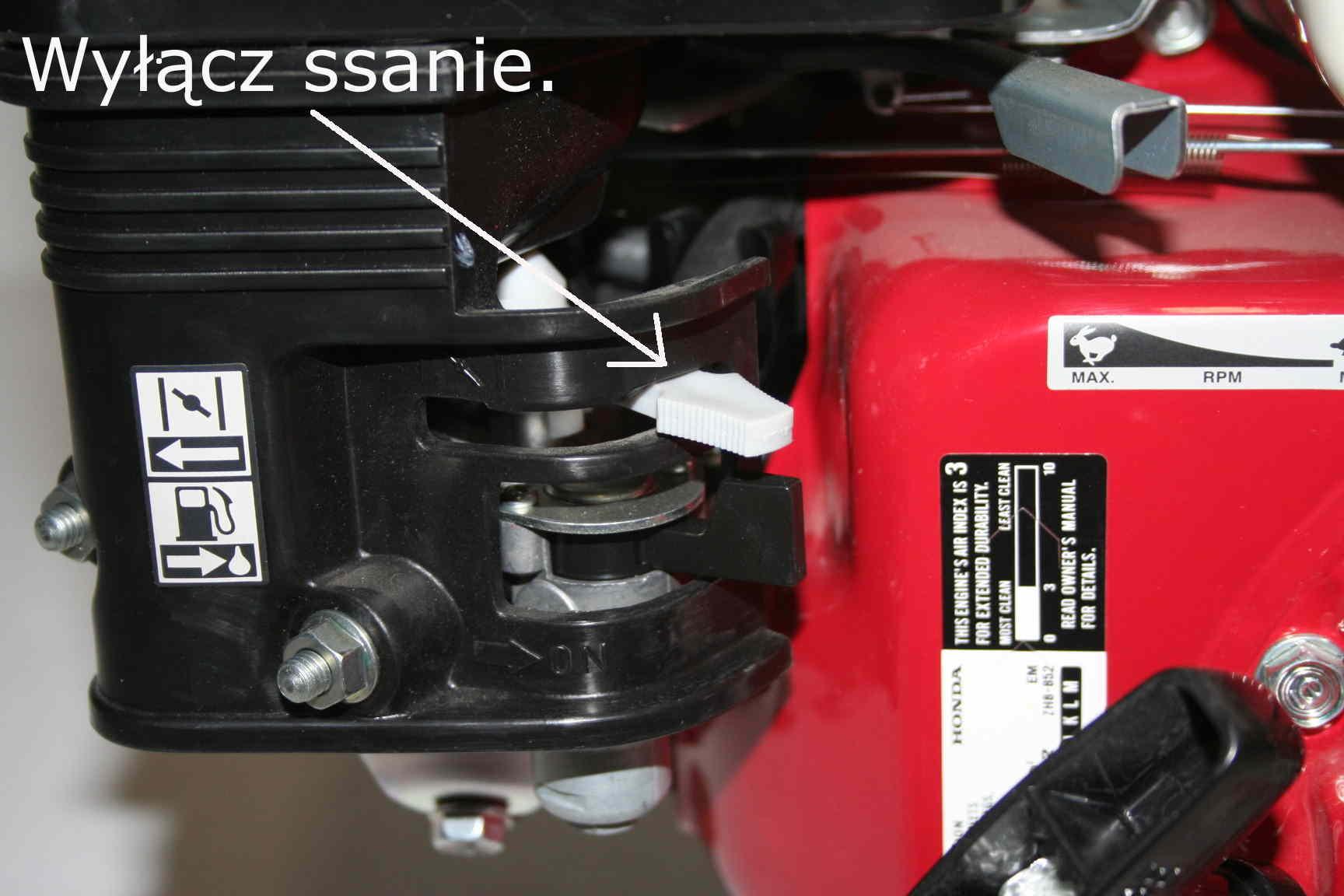 Silnik Honda - wyłączenie  ssania