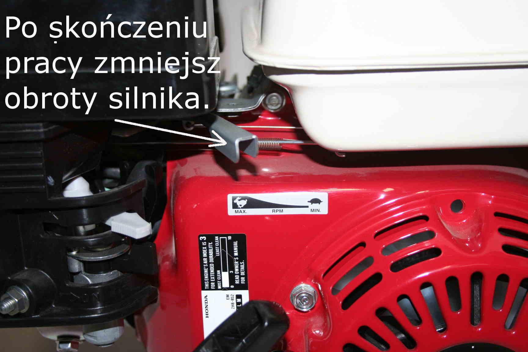 Silnik Honda GX - niskie obroty
