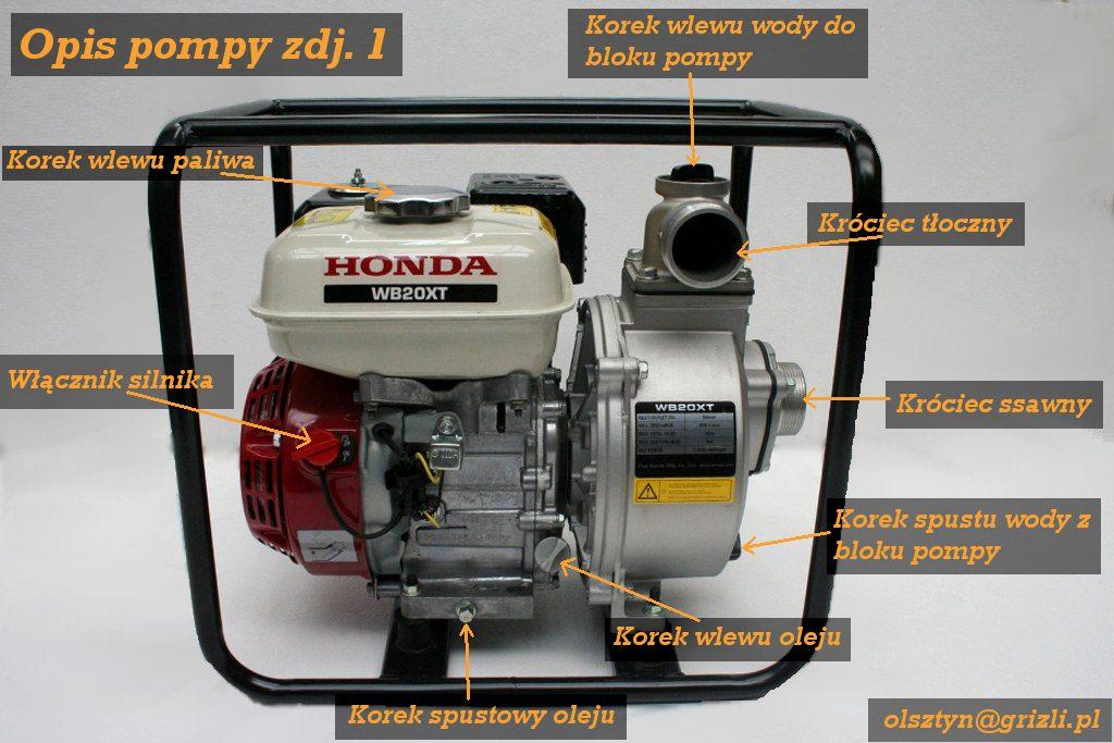 Pompa Honda WB20 - opis ogólny foto 1