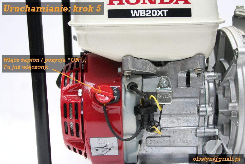 Pmpa Honda WB20 - uruchomienie - krok 5