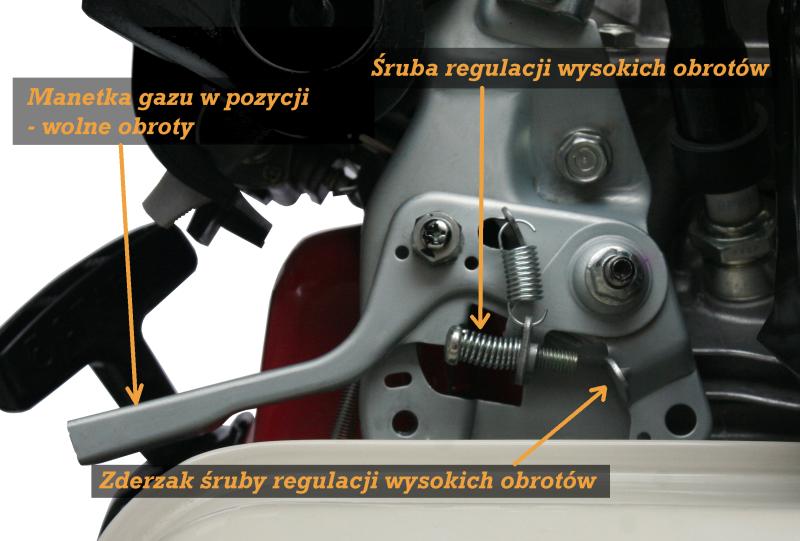 Pompa Honda WB20 - wolne obroty