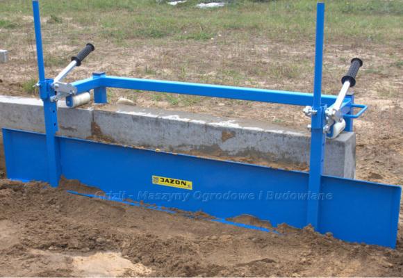 Jazon - narzędzia do polbruku. Na foto szalunek ślizgowy Jazon. Inna nazwa szalunek brukarski Jazon