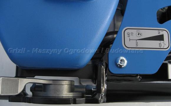 Ubijaki Weber - SRV 650 - tu widok na manetkę gazu